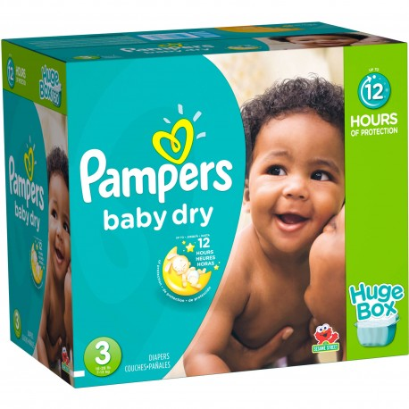 Baby Dry - Pack de 136 Couches de Pampers taille 3 sur Couches Zone