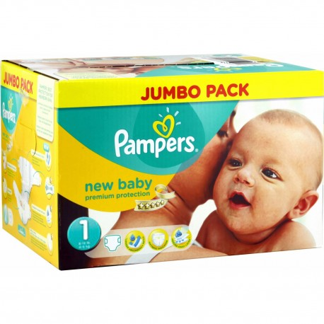 New Baby - Pack 280 Couches de Pampers taille 1 sur Couches Zone