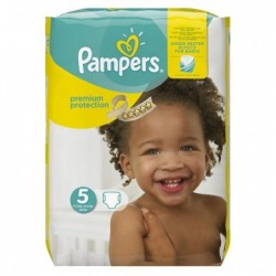 Pack 30 Couches Pampers New Baby Premium Protection taille 5 sur Couches Zone