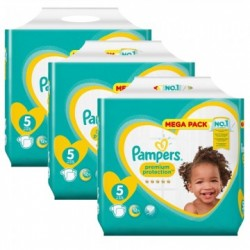 Mega pack 150 Couches Pampers New Baby Premium Protection taille 5 sur Couches Zone