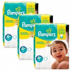 Mega pack 100 Couches Pampers New Baby Premium Protection taille 4+ sur Couches Zone