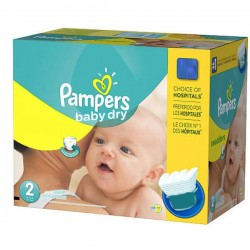 Mega pack 138 Couches Pampers Baby Dry taille 2