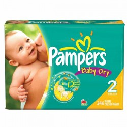 Giga pack 230 Couches Pampers Baby Dry taille 2