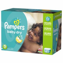 Giga pack 242 Couches Pampers Baby Dry taille 5 sur Couches Zone