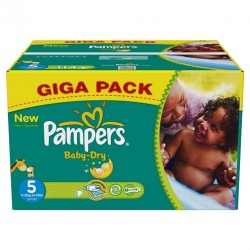 Giga pack 286 Couches Pampers Baby Dry taille 5 sur Couches Zone