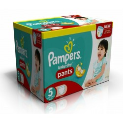 Mega pack 156 Couches Pampers Baby Dry Pants taille 5 sur Couches Zone
