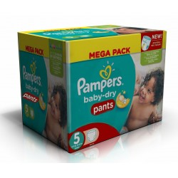 Mega pack 192 Couches Pampers Baby Dry Pants taille 5
